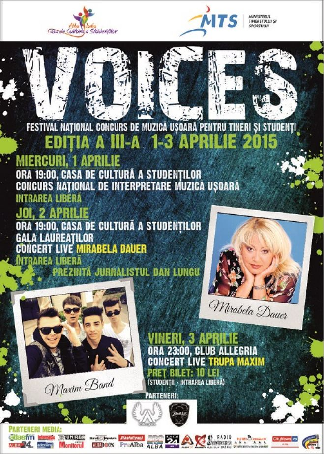 "ALBA IULIA: FESTIVAL NATIONAL ""VOICES"""