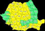 A fost extins codul galben de vreme rea în aproape toată țara